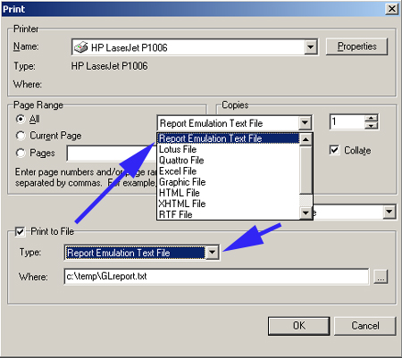 Report emulation text file handling in Tas Premier 7i rel. 10